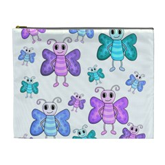 Cute Butterflies Pattern Cosmetic Bag (xl)