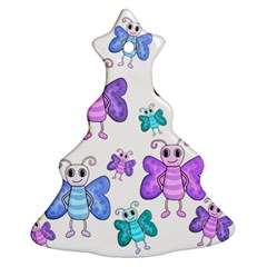Cute Butterflies Pattern Ornament (christmas Tree)