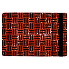 Woven1 Black Marble & Red Marble (r) Apple Ipad Air Flip Case by trendistuff