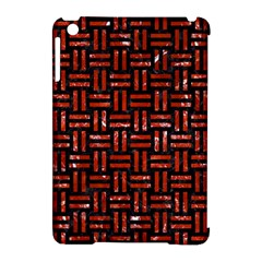 Woven1 Black Marble & Red Marble Apple Ipad Mini Hardshell Case (compatible With Smart Cover) by trendistuff
