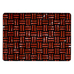 Woven1 Black Marble & Red Marble Samsung Galaxy Tab 10 1  P7500 Flip Case by trendistuff