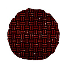 Woven1 Black Marble & Red Marble Standard 15  Premium Flano Round Cushion  by trendistuff
