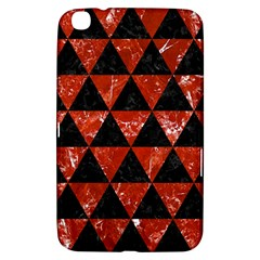 Triangle3 Black Marble & Red Marble Samsung Galaxy Tab 3 (8 ) T3100 Hardshell Case  by trendistuff