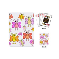Cute Butterflies Pattern Playing Cards (mini)  by Valentinaart