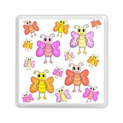 Cute Butterflies Pattern Memory Card Reader (square)  by Valentinaart