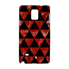 Triangle3 Black Marble & Red Marble Samsung Galaxy Note 4 Hardshell Case by trendistuff