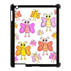 Cute Butterflies Pattern Apple Ipad 3/4 Case (black) by Valentinaart
