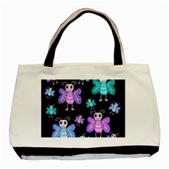 Blue And Purple Butterflies Basic Tote Bag by Valentinaart