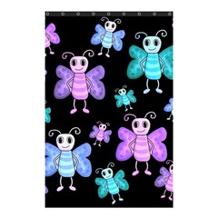Blue And Purple Butterflies Shower Curtain 48  X 72  (small)  by Valentinaart