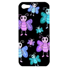 Blue And Purple Butterflies Apple Iphone 5 Hardshell Case by Valentinaart