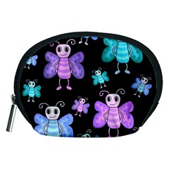 Blue And Purple Butterflies Accessory Pouches (medium)  by Valentinaart