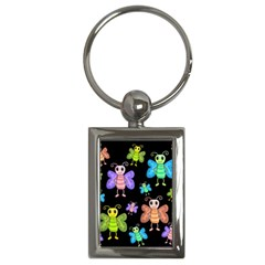 Cartoon Style Butterflies Key Chains (rectangle)  by Valentinaart