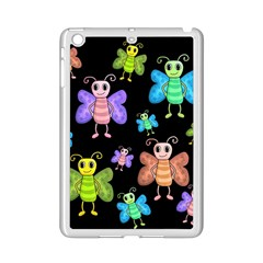 Cartoon Style Butterflies Ipad Mini 2 Enamel Coated Cases by Valentinaart