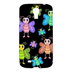 Cartoon Style Butterflies Samsung Galaxy S4 I9500/i9505 Hardshell Case