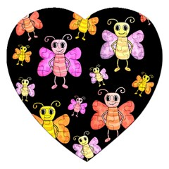 Cute Butterflies, Colorful Design Jigsaw Puzzle (heart)