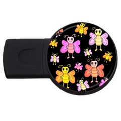 Cute Butterflies, Colorful Design Usb Flash Drive Round (4 Gb)  by Valentinaart