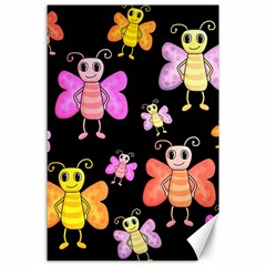 Cute Butterflies, Colorful Design Canvas 24  X 36  by Valentinaart