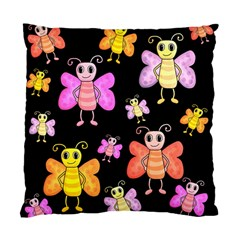 Cute Butterflies, Colorful Design Standard Cushion Case (two Sides) by Valentinaart