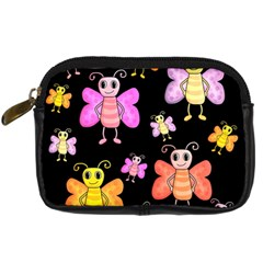 Cute Butterflies, Colorful Design Digital Camera Cases by Valentinaart