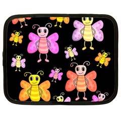 Cute Butterflies, Colorful Design Netbook Case (xxl)  by Valentinaart
