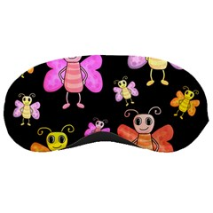 Cute Butterflies, Colorful Design Sleeping Masks by Valentinaart