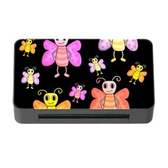 Cute Butterflies, Colorful Design Memory Card Reader With Cf by Valentinaart