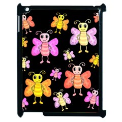 Cute Butterflies, Colorful Design Apple Ipad 2 Case (black) by Valentinaart