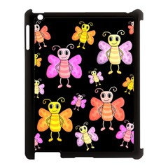 Cute Butterflies, Colorful Design Apple Ipad 3/4 Case (black) by Valentinaart