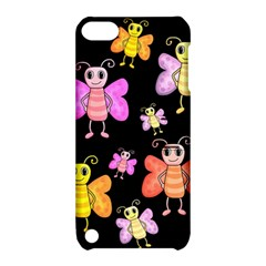 Cute Butterflies, Colorful Design Apple Ipod Touch 5 Hardshell Case With Stand by Valentinaart