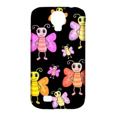 Cute Butterflies, Colorful Design Samsung Galaxy S4 Classic Hardshell Case (pc+silicone) by Valentinaart
