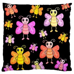 Cute Butterflies, Colorful Design Standard Flano Cushion Case (two Sides) by Valentinaart