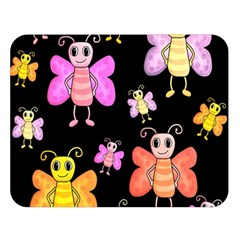 Cute Butterflies, Colorful Design Double Sided Flano Blanket (large)  by Valentinaart