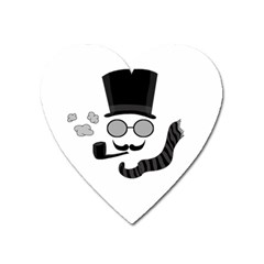 Invisible Man Heart Magnet by Valentinaart