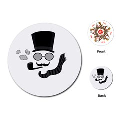 Invisible Man Playing Cards (round)