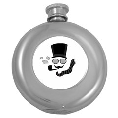 Invisible Man Round Hip Flask (5 Oz)