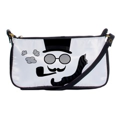 Invisible Man Shoulder Clutch Bags by Valentinaart