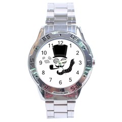 Invisible Man Stainless Steel Analogue Watch by Valentinaart