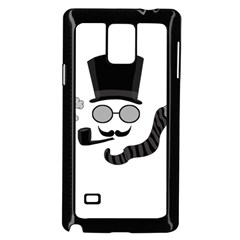 Invisible Man Samsung Galaxy Note 4 Case (black) by Valentinaart