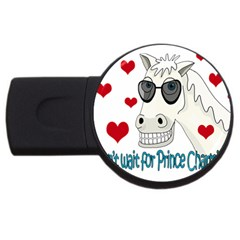 Don t Wait For Prince Sharming Usb Flash Drive Round (4 Gb)
