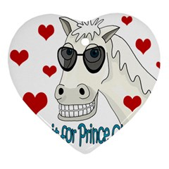 Don t Wait For Prince Sharming Heart Ornament (2 Sides) by Valentinaart