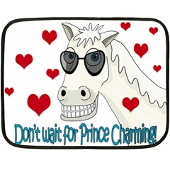Don t Wait For Prince Sharming Double Sided Fleece Blanket (mini)  by Valentinaart