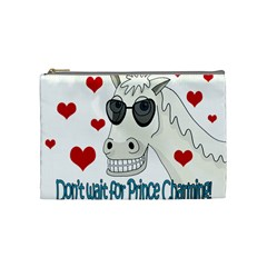 Don t Wait For Prince Sharming Cosmetic Bag (medium)  by Valentinaart