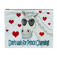 Don t Wait For Prince Sharming Cosmetic Bag (xl) by Valentinaart