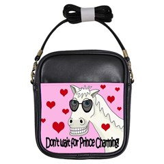 Don t Wait For Prince Charming Girls Sling Bags by Valentinaart