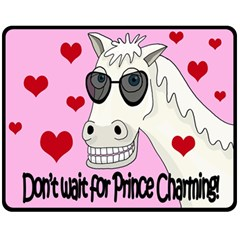Don t Wait For Prince Charming Double Sided Fleece Blanket (medium)  by Valentinaart