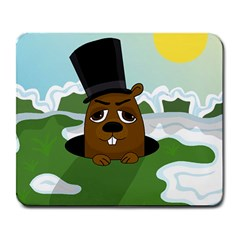 Groundhog Large Mousepads by Valentinaart