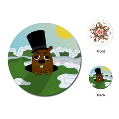 Groundhog Playing Cards (round)  by Valentinaart