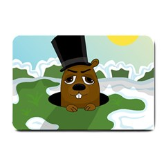 Groundhog Small Doormat  by Valentinaart