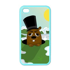 Groundhog Apple Iphone 4 Case (color) by Valentinaart