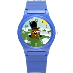 Groundhog Round Plastic Sport Watch (s)